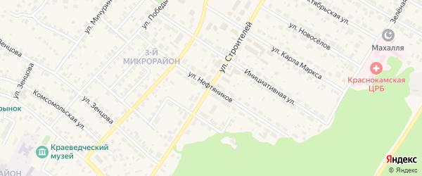 Улица Нефтяников на карте села Николо-Березовки с номерами домов