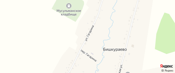 Улица Гагарина на карте села Бишкураево с номерами домов