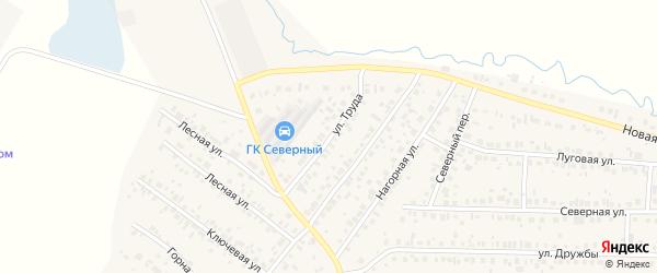 Улица Труда на карте села Николо-Березовки с номерами домов