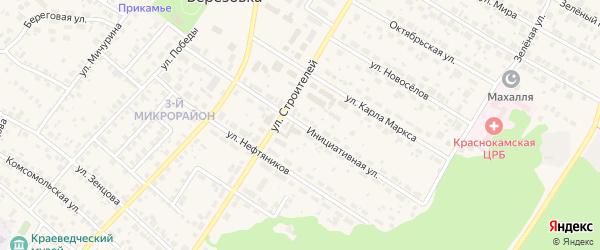 Инициативная улица на карте села Николо-Березовки с номерами домов