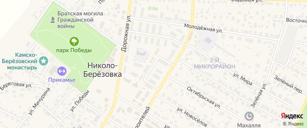 Камская улица на карте села Николо-Березовки с номерами домов