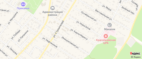 Улица Карла Маркса на карте села Николо-Березовки с номерами домов