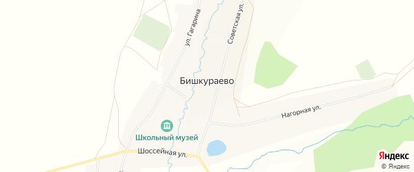 Карта села Бишкураево в Башкортостане с улицами и номерами домов
