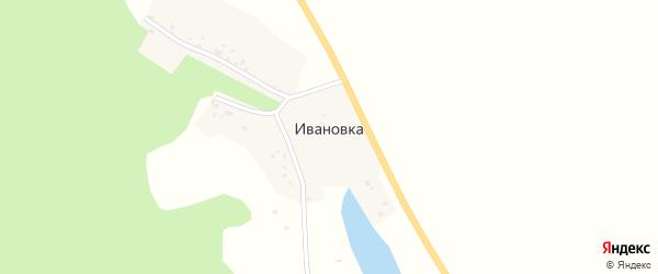 Шоссейная улица на карте деревни Ивановки с номерами домов