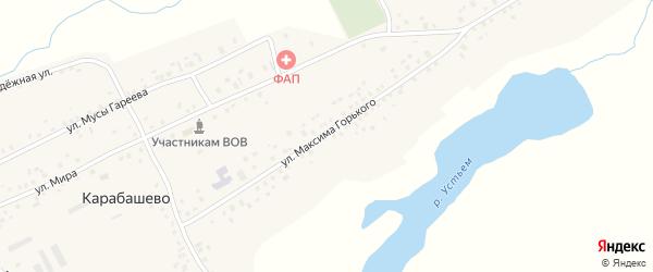 Улица М.Горького на карте села Карабашево с номерами домов
