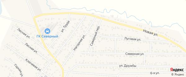 Северный переулок на карте села Николо-Березовки с номерами домов
