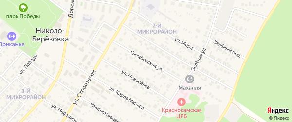 Октябрьская улица на карте села Николо-Березовки с номерами домов