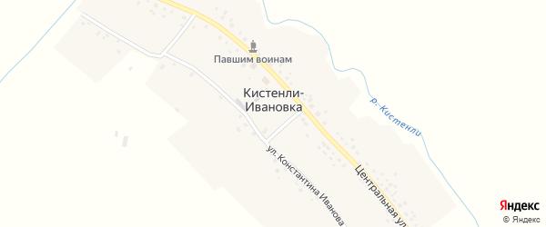 Центральная улица на карте села Кистенли-Ивановки с номерами домов