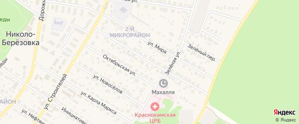 Фестивальная улица на карте села Николо-Березовки с номерами домов