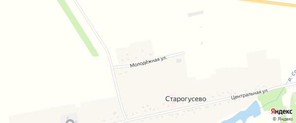 Молодежная улица на карте села Старогусево с номерами домов