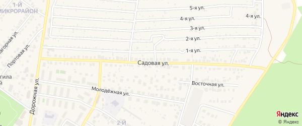 Садовая улица на карте села Николо-Березовки с номерами домов