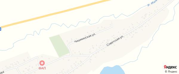 Чишминская улица на карте села Карабашево с номерами домов