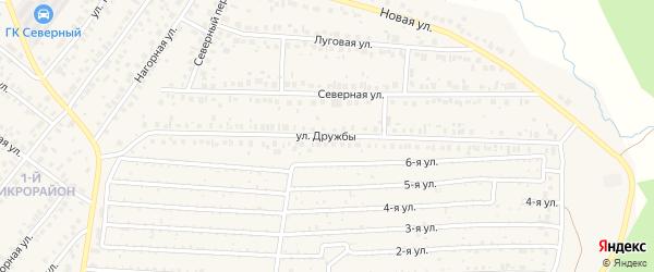 Улица Дружбы на карте села Николо-Березовки с номерами домов