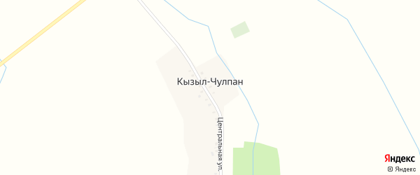 Центральная улица на карте деревни Кызыла-Чулпана с номерами домов