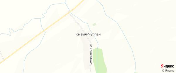 Карта деревни Кызыла-Чулпана в Башкортостане с улицами и номерами домов