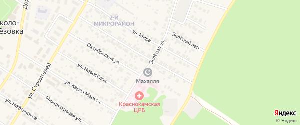 Зеленая улица на карте села Николо-Березовки с номерами домов