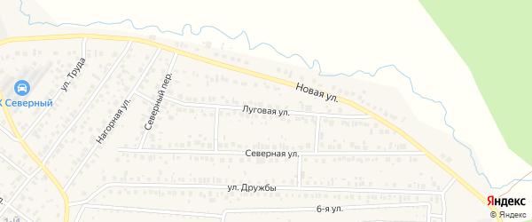 Луговая улица на карте села Николо-Березовки с номерами домов