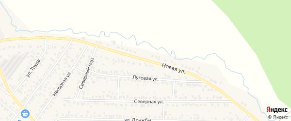 Новая улица на карте села Николо-Березовки с номерами домов