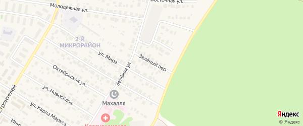 Зеленый переулок на карте села Николо-Березовки с номерами домов