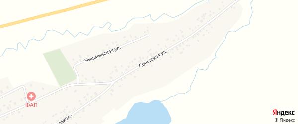 Советская улица на карте села Карабашево с номерами домов