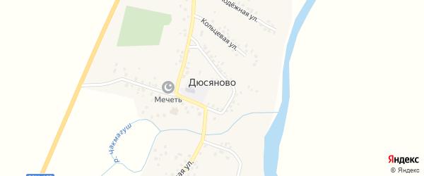 Кольцевая улица на карте села Дюсяново с номерами домов