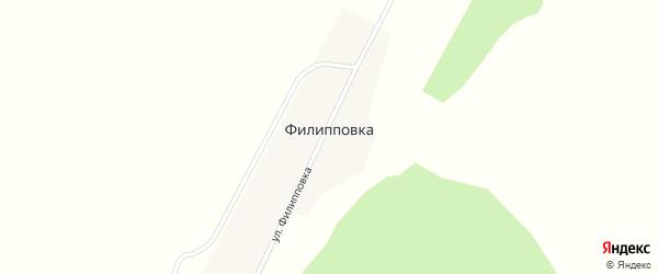 Улица Филипповка на карте деревни Филипповки с номерами домов