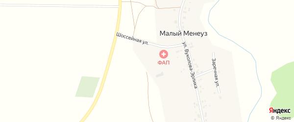 Улица Вуколова-Эрлика на карте села Малого Менеуза с номерами домов