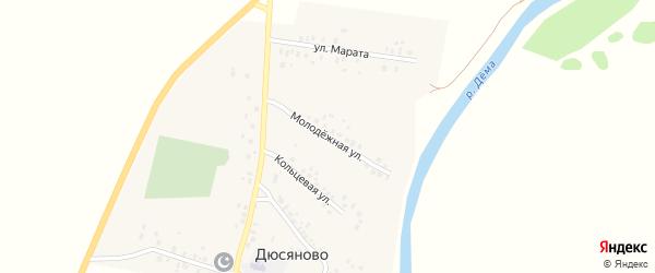 Молодежная улица на карте села Дюсяново с номерами домов