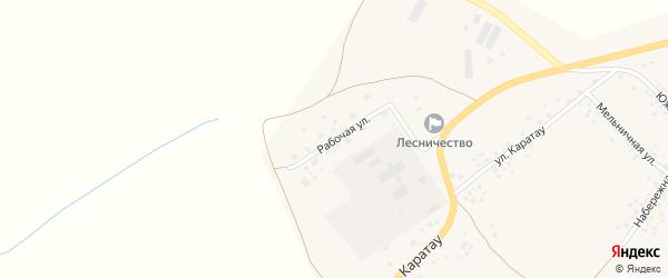 Рабочая улица на карте села Аитово с номерами домов