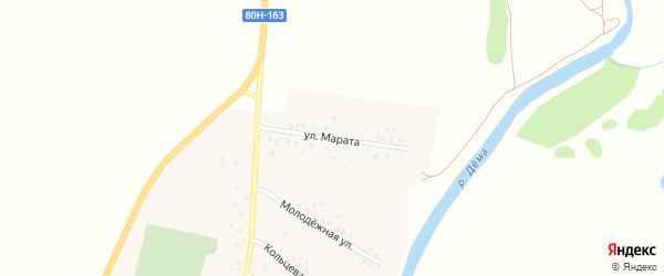 Улица Марата на карте села Дюсяново с номерами домов