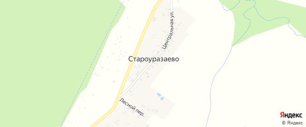 Лесной переулок на карте деревни Староуразаево с номерами домов