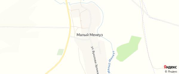 Карта села Малого Менеуза в Башкортостане с улицами и номерами домов