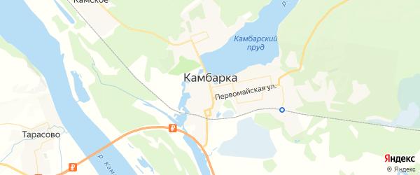 Карта Камбарки с районами, улицами и номерами домов