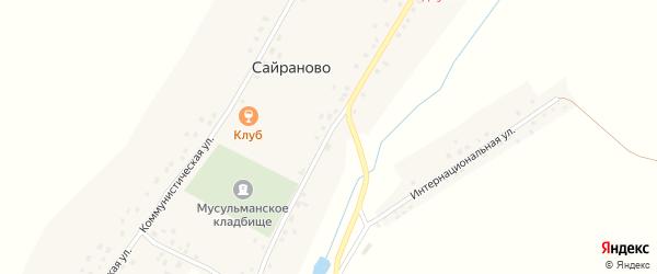 Советская улица на карте села Сайраново с номерами домов