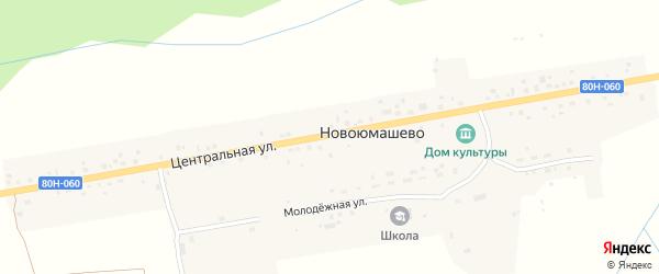 Центральная улица на карте села Новоюмашево с номерами домов