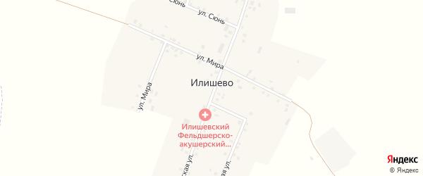 Школьная улица на карте деревни Илишево с номерами домов