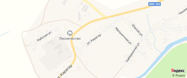 Улица Каратау на карте села Аитово с номерами домов