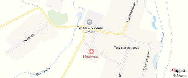 Школьная улица на карте села Тактагулово с номерами домов
