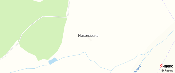 Карта села Николаевки в Башкортостане с улицами и номерами домов