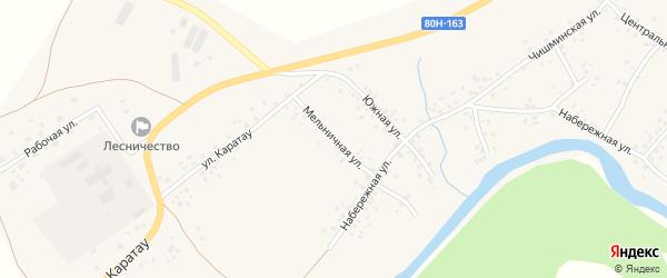 Мельничная улица на карте села Аитово с номерами домов
