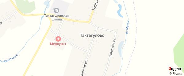 Молодежная улица на карте села Тактагулово с номерами домов