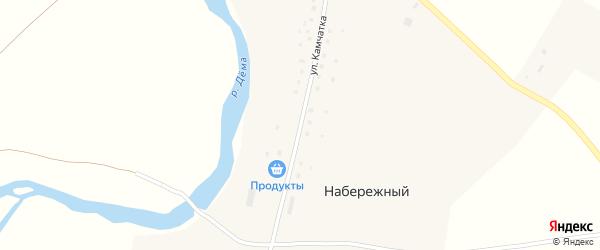 Улица Камчатка на карте деревни Набережного с номерами домов