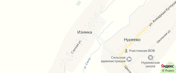 Степная улица на карте деревни Изимки с номерами домов
