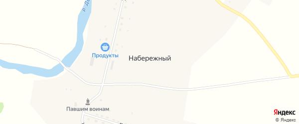 Молодежная улица на карте деревни Набережного с номерами домов