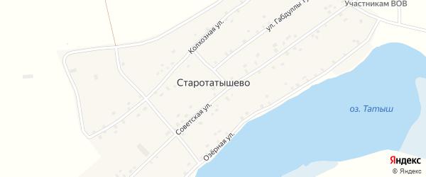 Советская улица на карте села Старотатышево с номерами домов