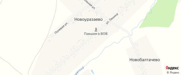 Улица Ленина на карте деревни Новоуразаево с номерами домов