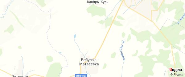 Карта Каменского сельсовета республики Башкортостан с районами, улицами и номерами домов