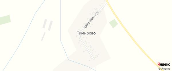 Центральная улица на карте деревни Тимирово с номерами домов
