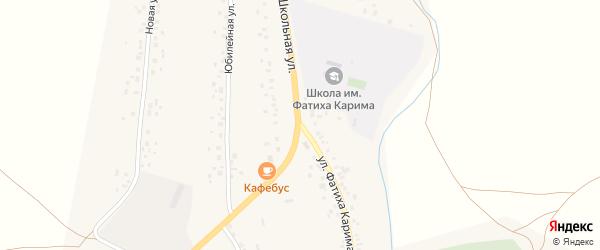 Школьная улица на карте села Аитово с номерами домов