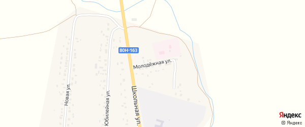 Молодежная улица на карте села Аитово с номерами домов